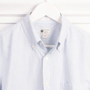 J. Crew Tailored Fit Washed Casual stripped shirt